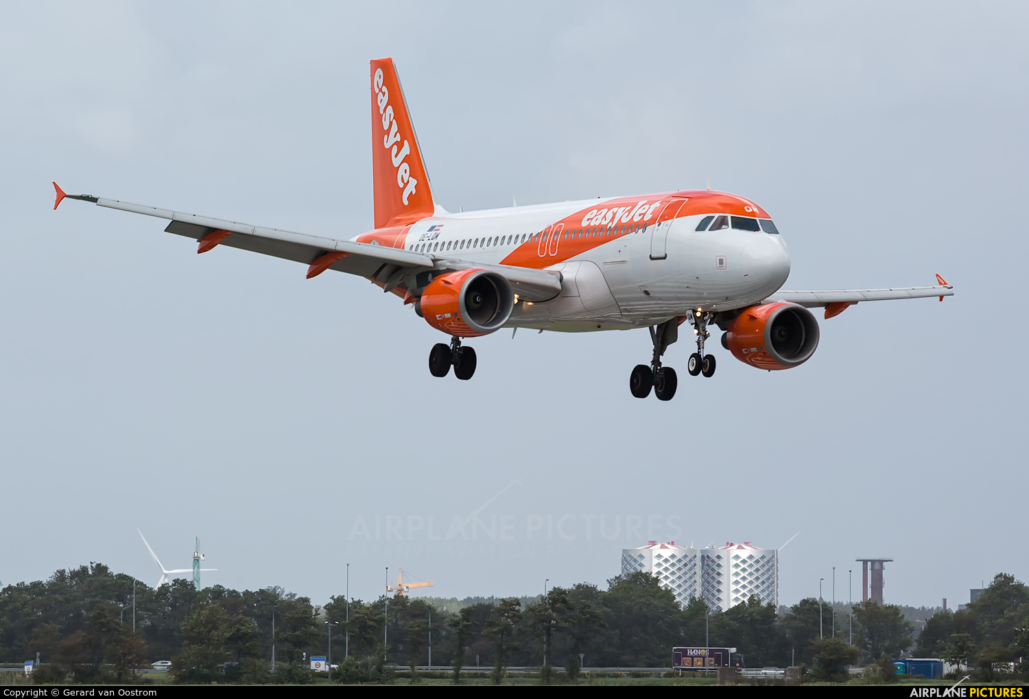 easyJet Europe OE-LQM aircraft at Amsterdam - Schiphol