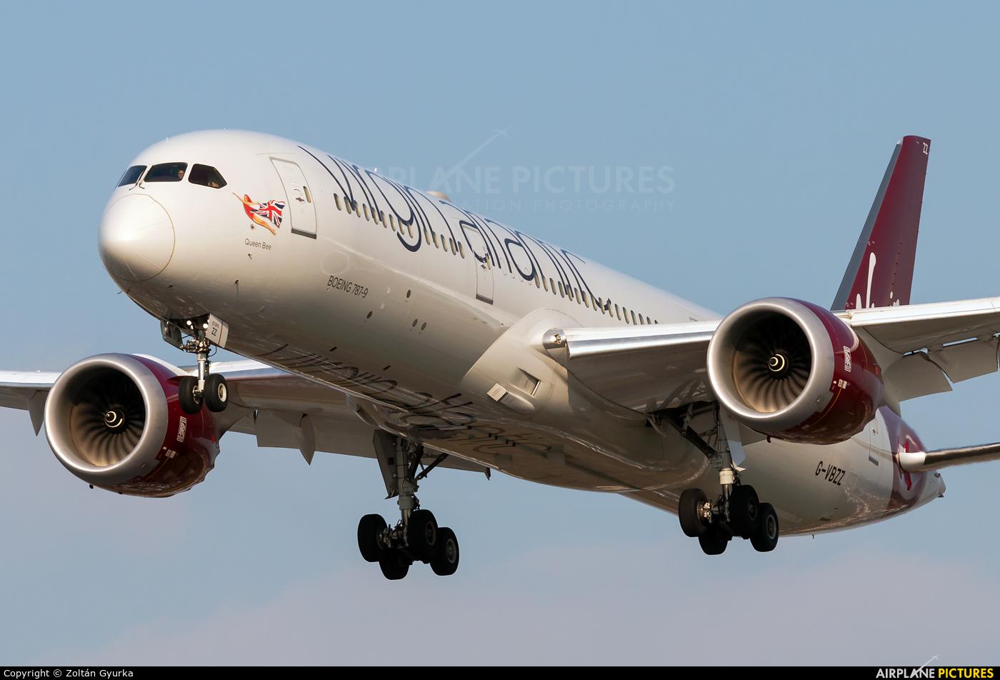 Virgin Atlantic G-VBZZ aircraft at London - Heathrow