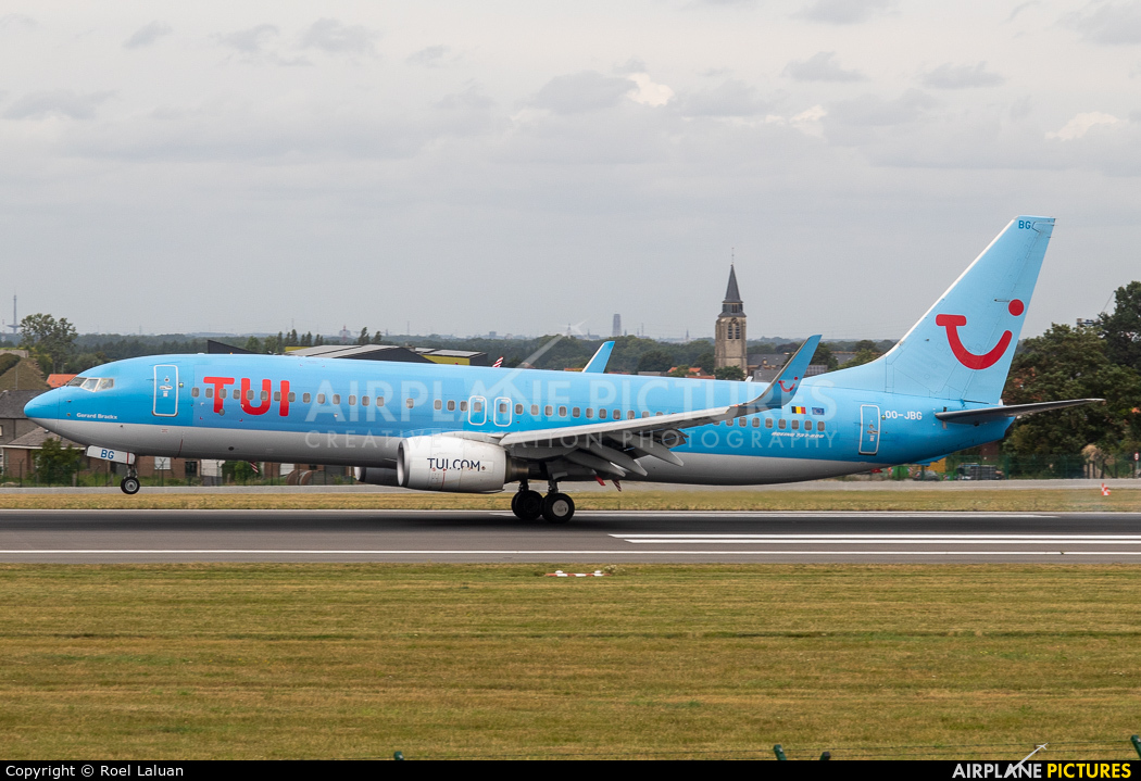 Jetairfly (TUI Airlines Belgium) OO-JBG aircraft at Brussels - Zaventem