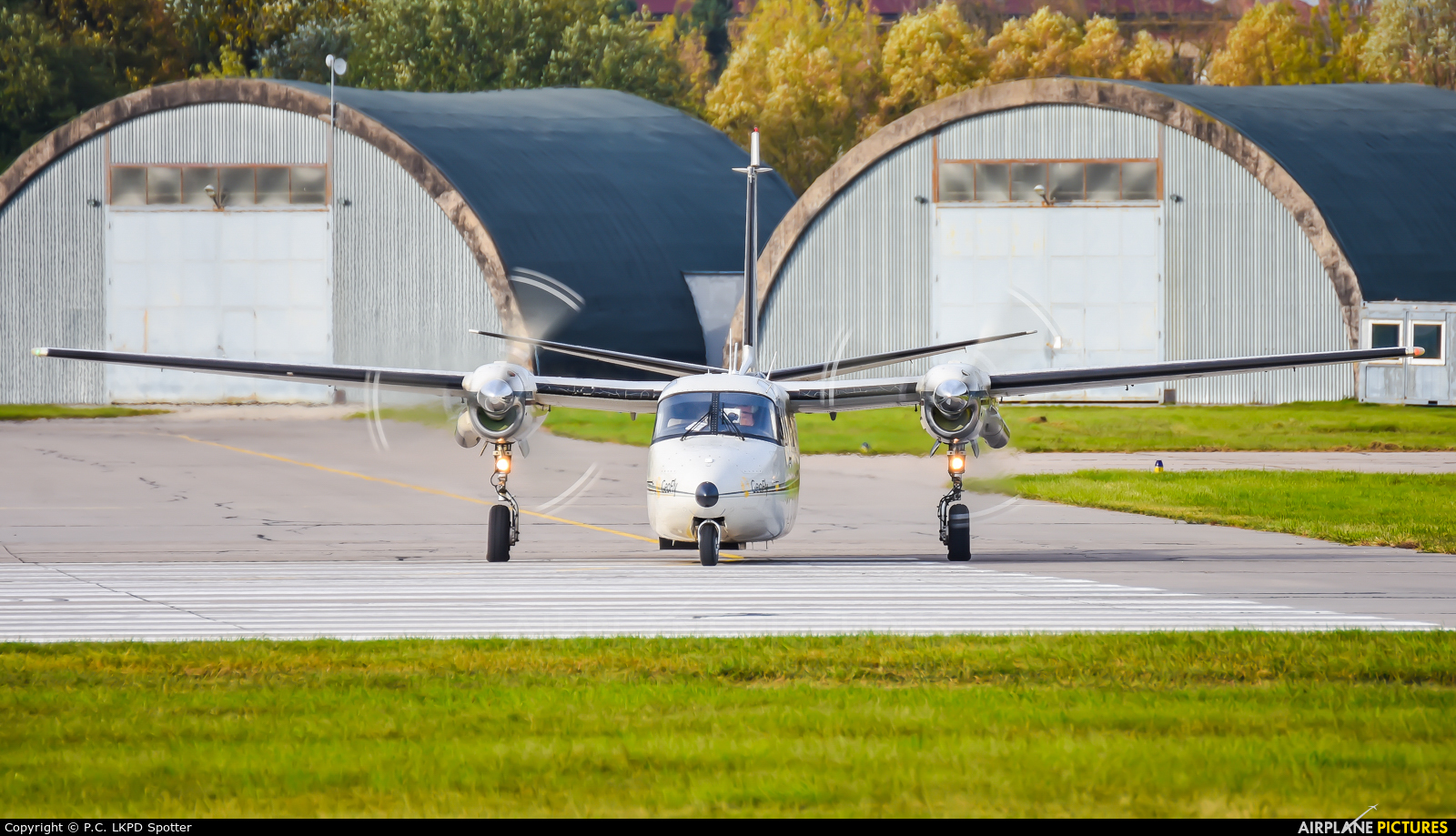 Geofly N71AH aircraft at Pardubice