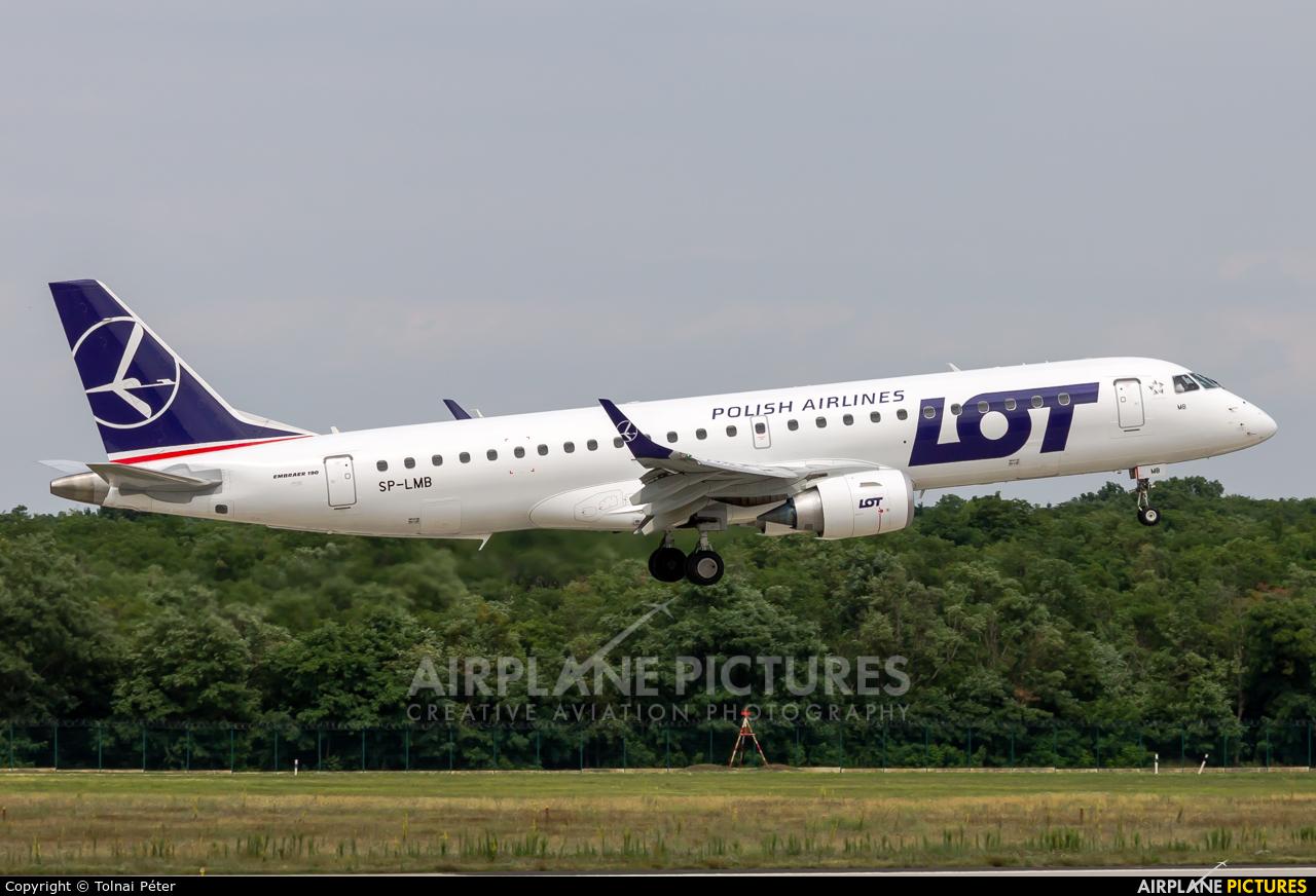 LOT - Polish Airlines SP-LMB aircraft at Budapest Ferenc Liszt International Airport