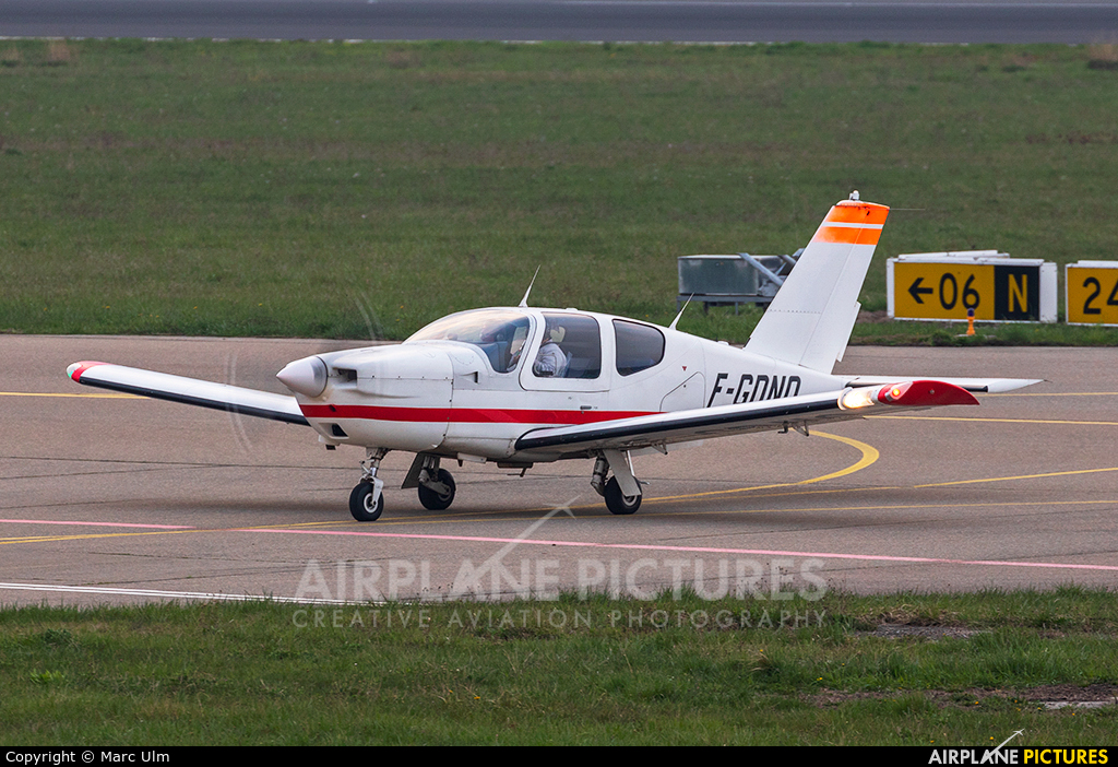 Private F-GDND aircraft at Friedrichshafen