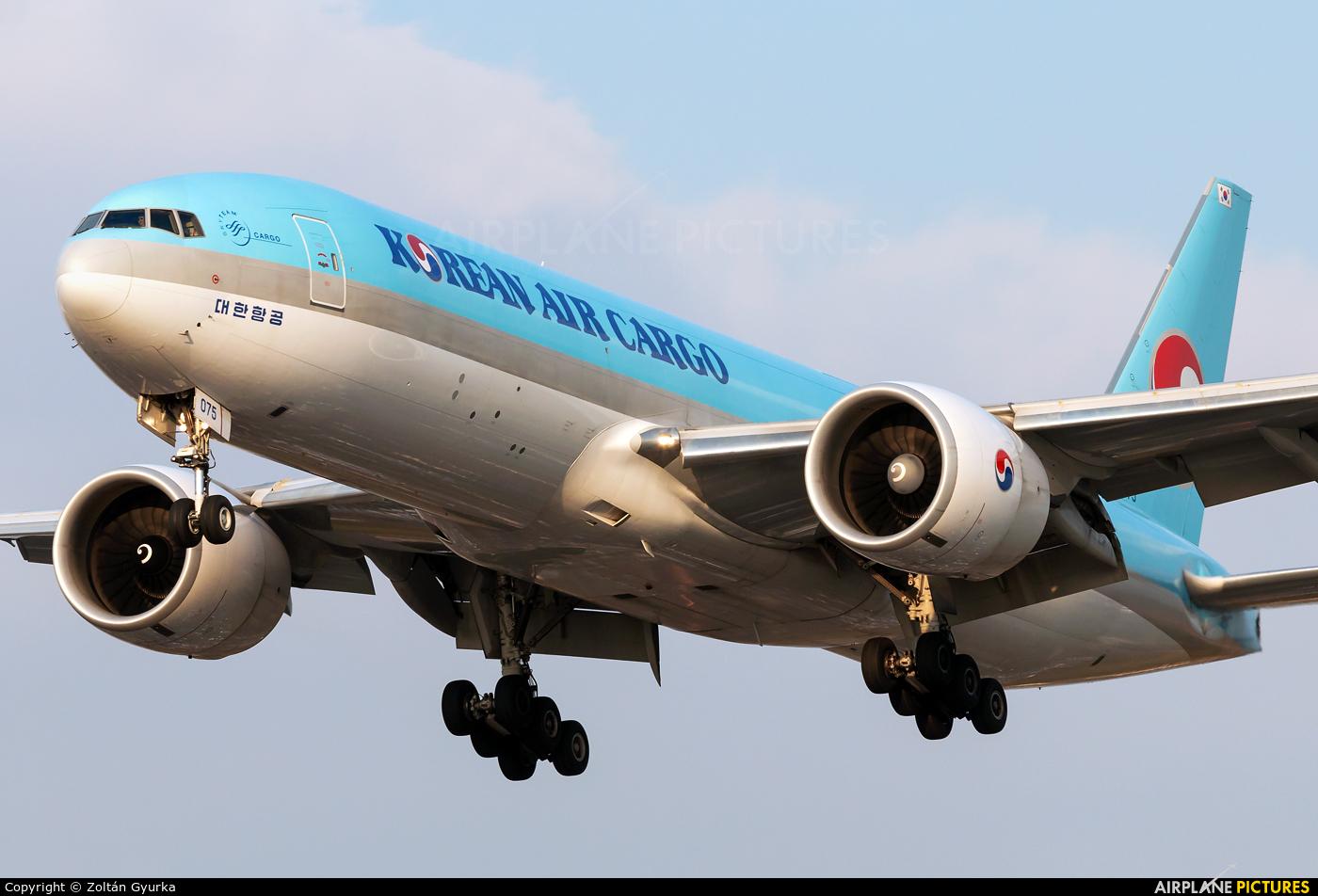 Korean Air Cargo HL8075 aircraft at London - Heathrow