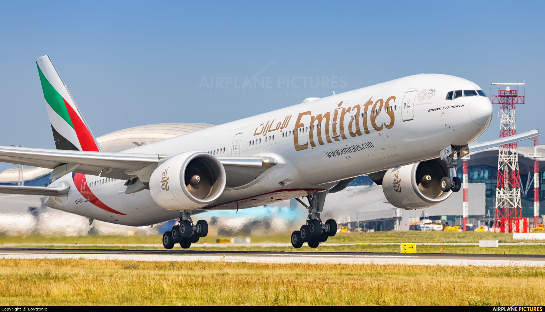 Emirates Airlines A6-EGH aircraft at Zagreb