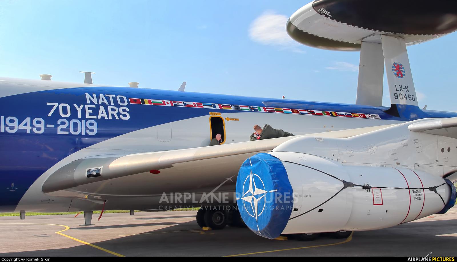 NATO LX-N90450 aircraft at Sliač