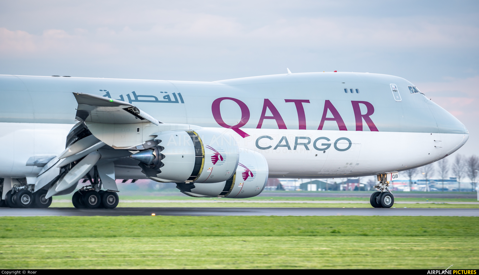 Qatar Airways Cargo A7-BGB aircraft at Amsterdam - Schiphol
