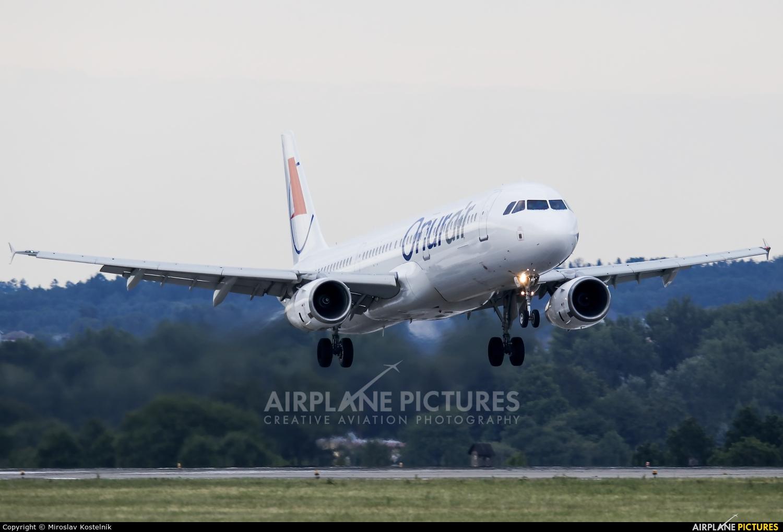 Onur Air LY-NVQ aircraft at Ostrava Mošnov