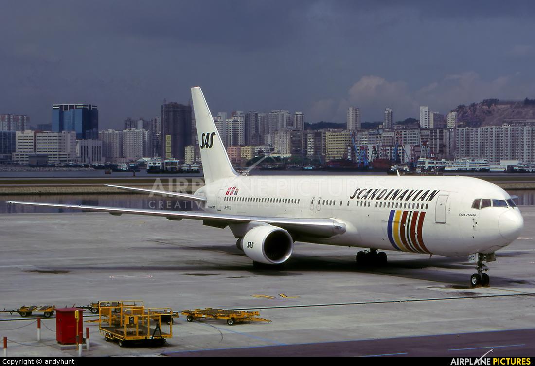 SAS - Scandinavian Airlines LN-RCD aircraft at HKG - Kai Tak Intl CLOSED