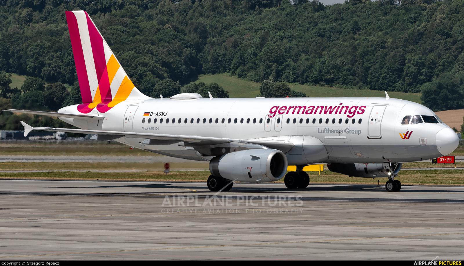 Germanwings D-AGWJ aircraft at Kraków - John Paul II Intl