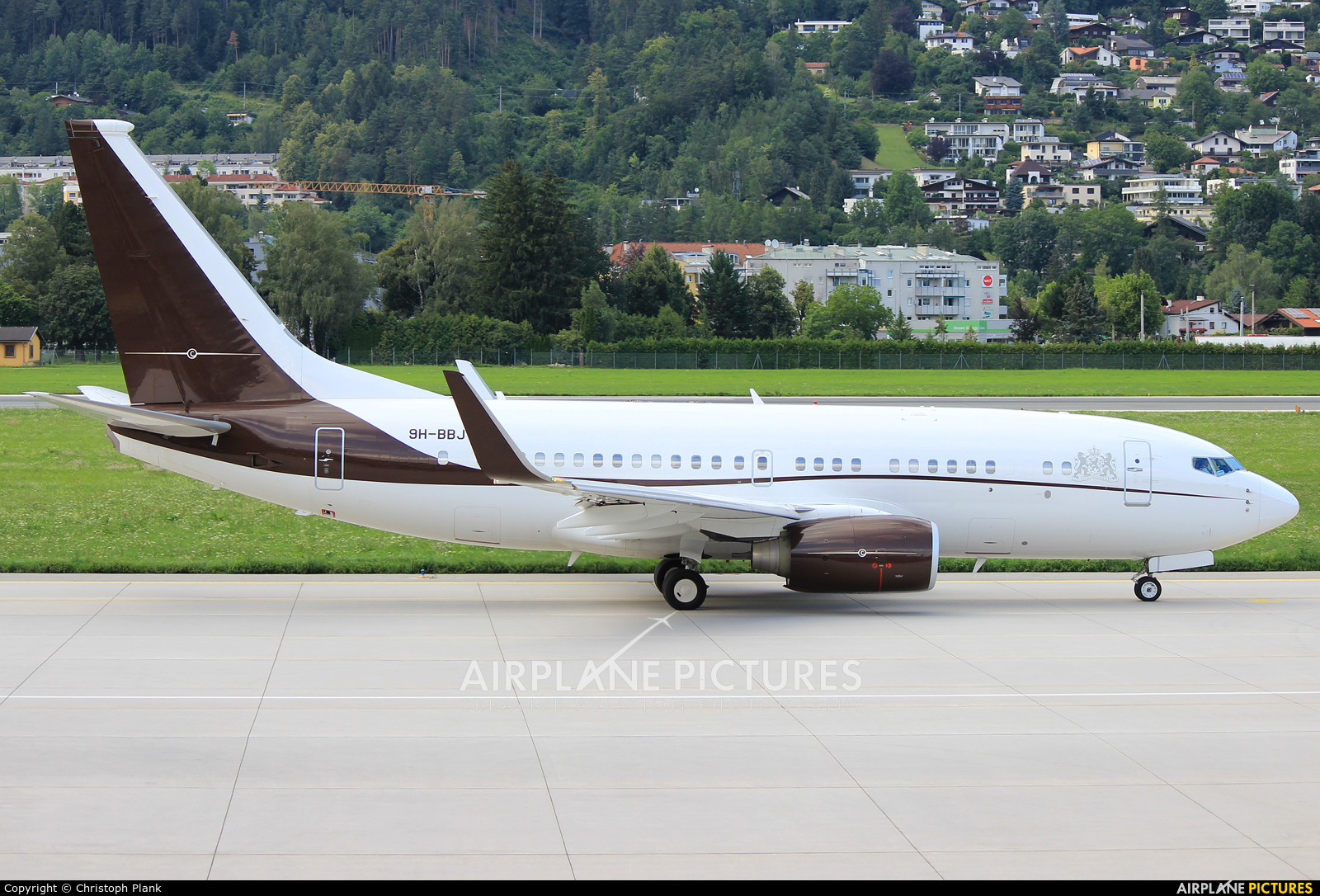 Privajet 9H-BBJ aircraft at Innsbruck