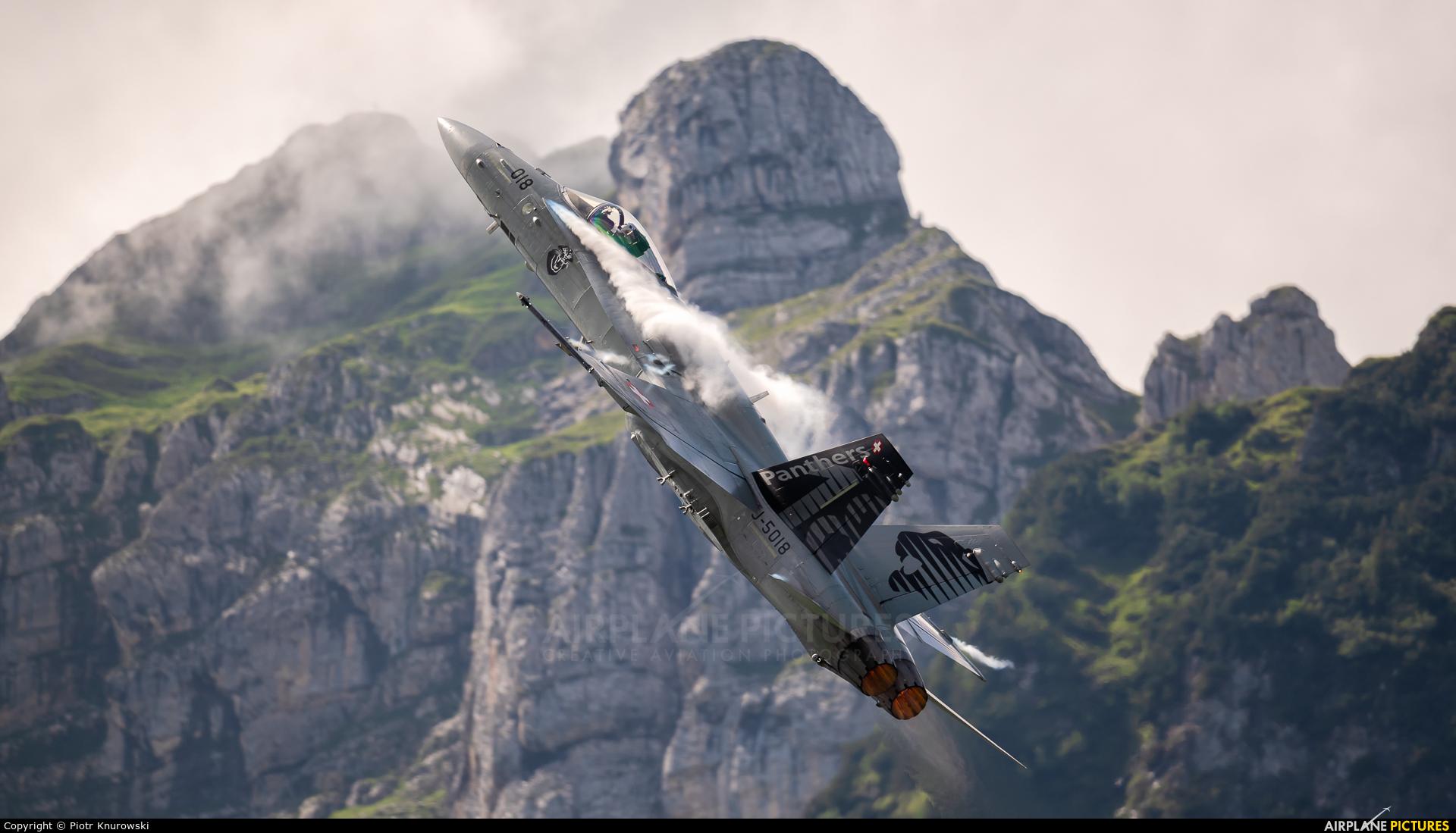 Switzerland - Air Force J-5018 aircraft at Mollis