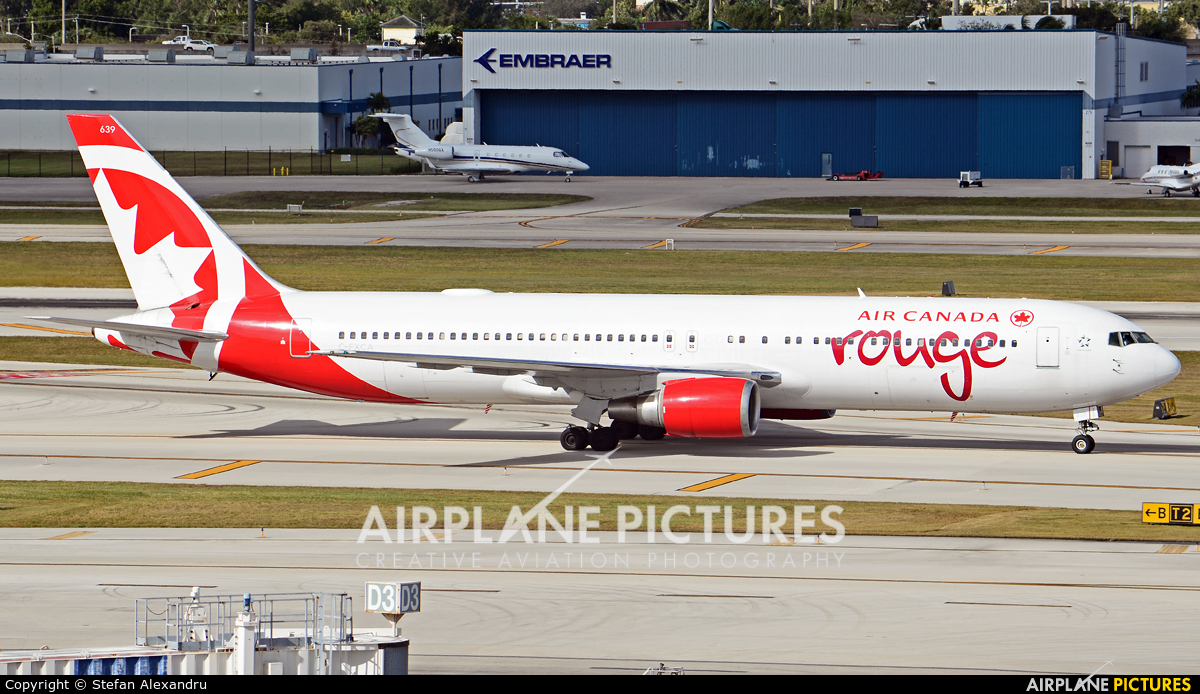 Air Canada Rouge C-FXCA aircraft at Fort Lauderdale - Hollywood Intl