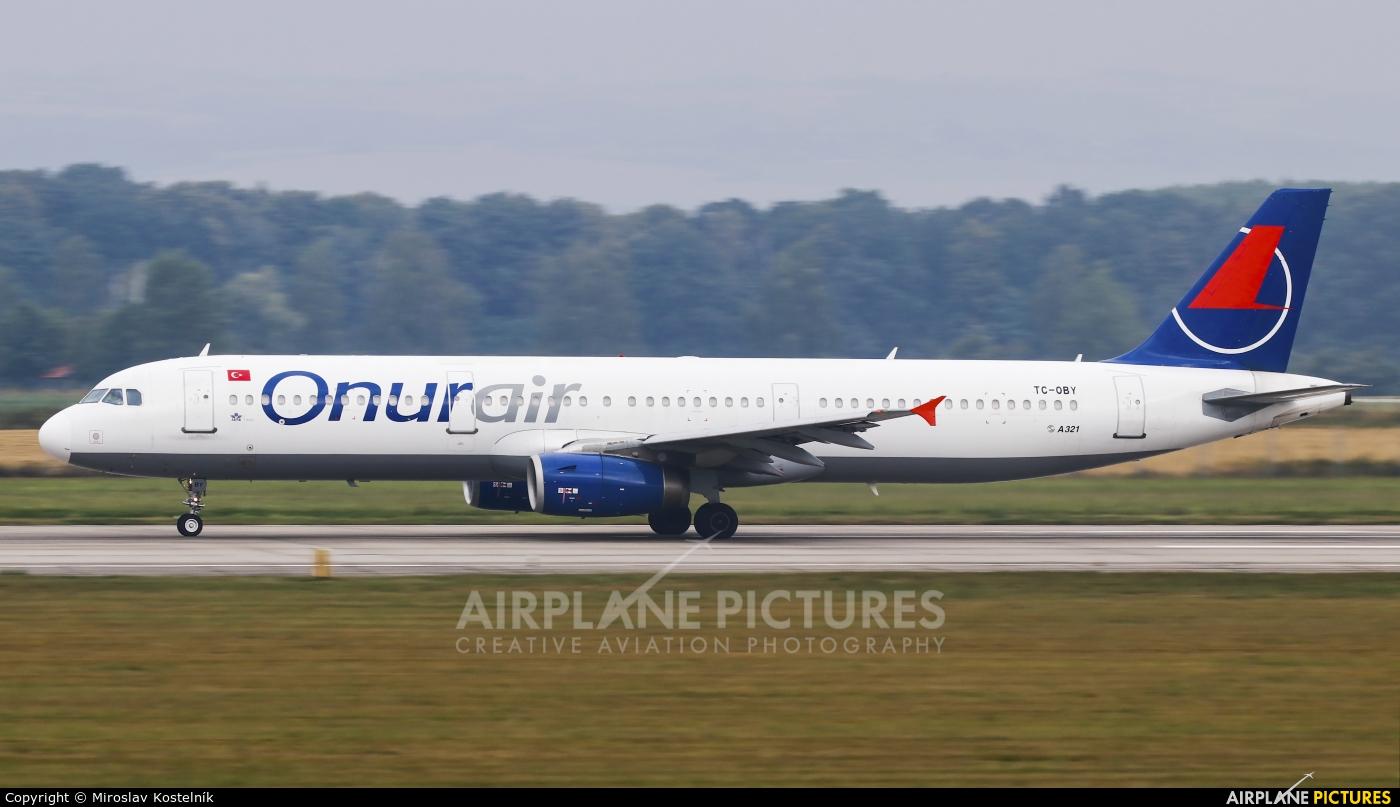 Onur Air TC-OBY aircraft at Ostrava Mošnov