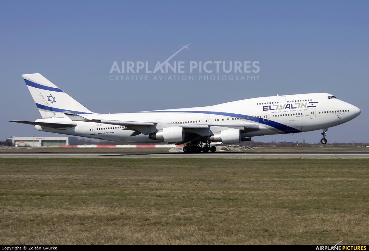 El Al Israel Airlines 4X-ELC aircraft at Bucharest - Henri Coandă