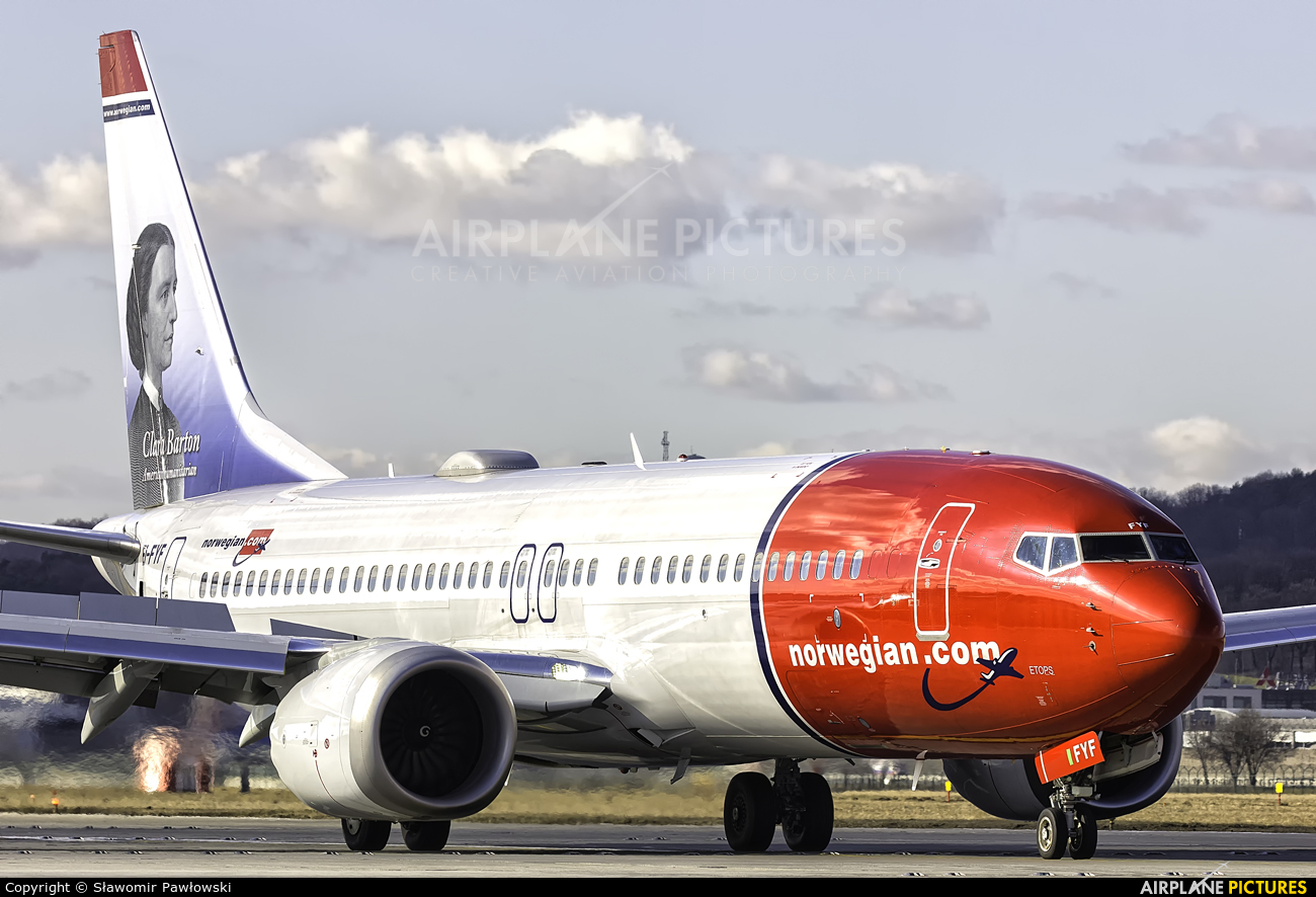 Norwegian Air International EI-FYF aircraft at Kraków - John Paul II Intl