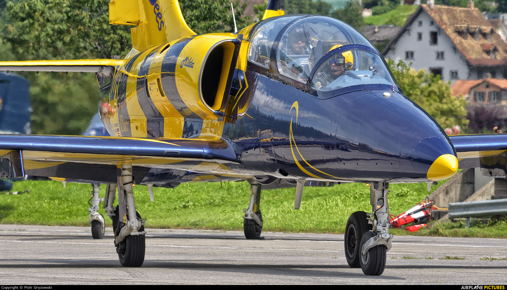 Baltic Bees Jet Team YL-KSM aircraft at Mollis