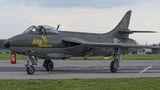 Swedish Air Force Historic Flight Hawker Hunter F.58 SE-DXM at Gdynia- Babie Doły (Oksywie) airport