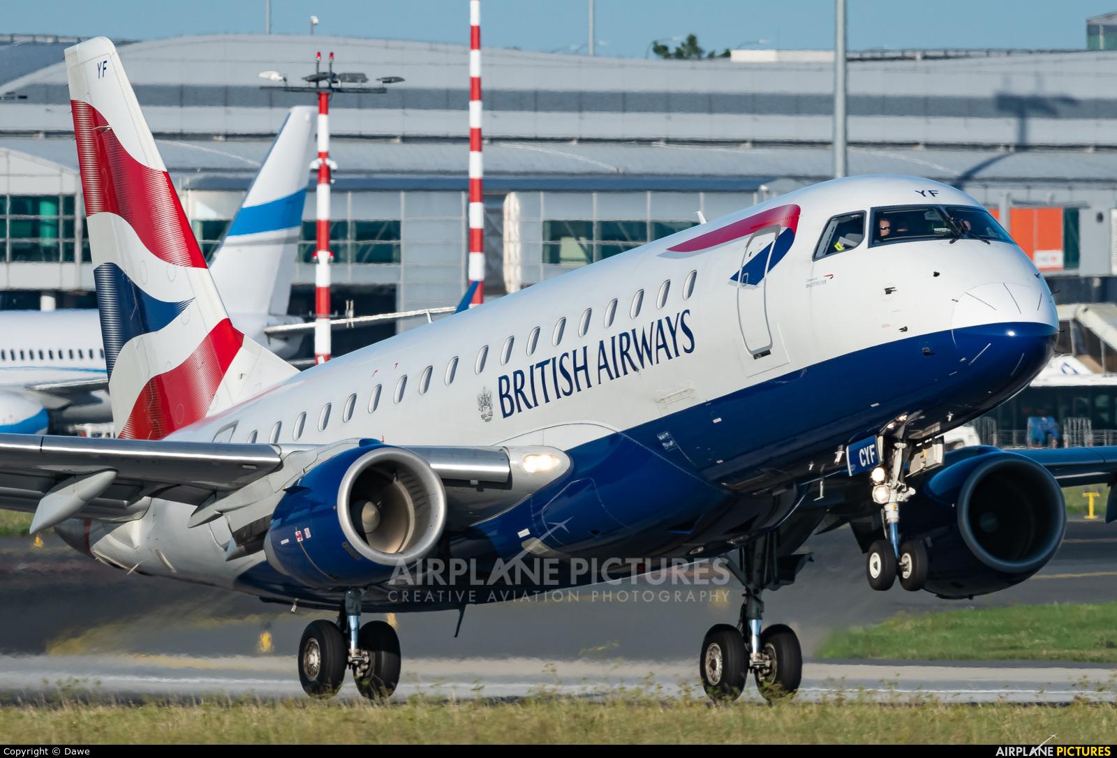 British Airways - City Flyer G-LCYF aircraft at Prague - Václav Havel