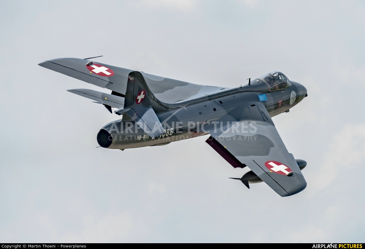 Hunter Flying Club HB-RVU aircraft at St. Gallen - Altenrhein