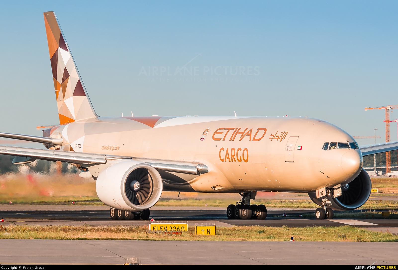 Etihad Cargo A6-DDD aircraft at Frankfurt