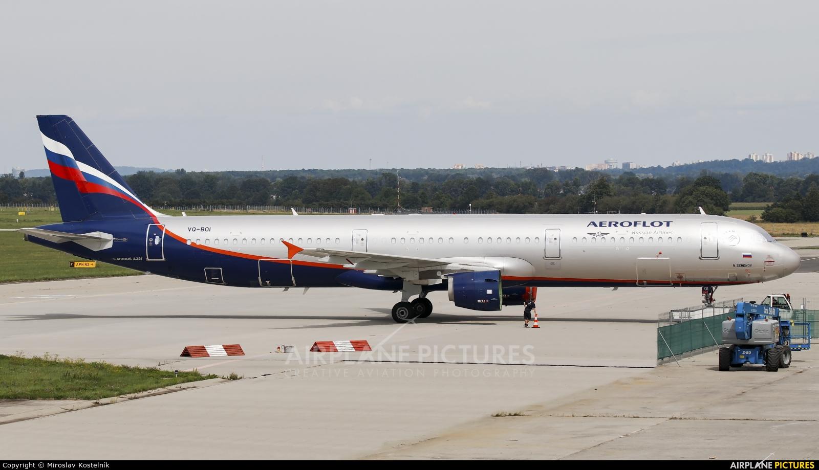 Aeroflot VQ-BOI aircraft at Ostrava Mošnov