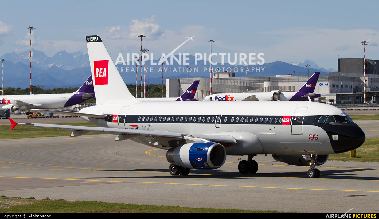 British Airways G-EUPJ aircraft at Milan - Malpensa