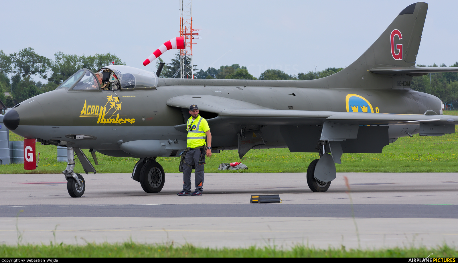 Swedish Air Force Historic Flight SE-DXM aircraft at Gdynia- Babie Doły (Oksywie)