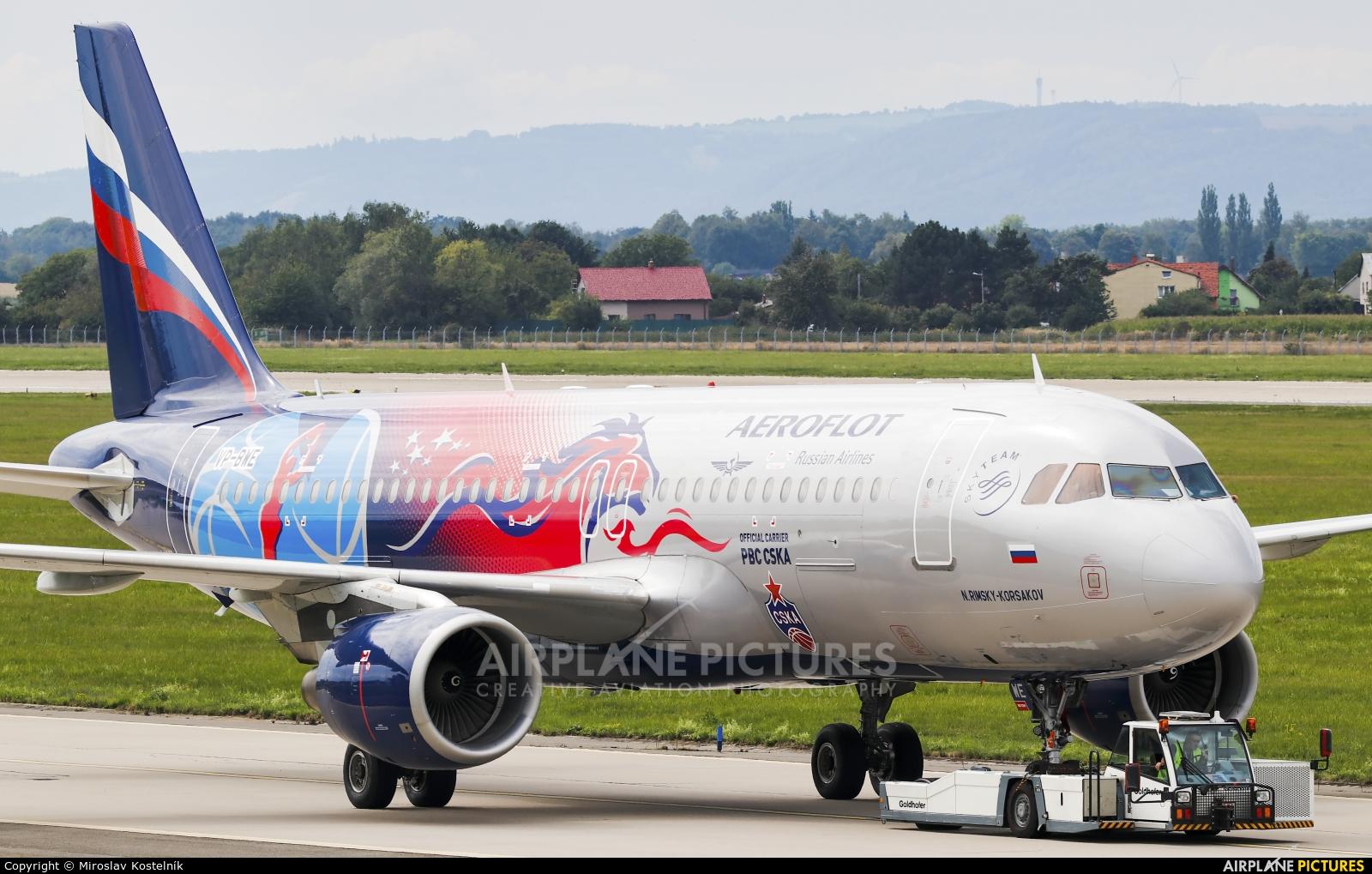 Aeroflot VP-BWE aircraft at Ostrava Mošnov