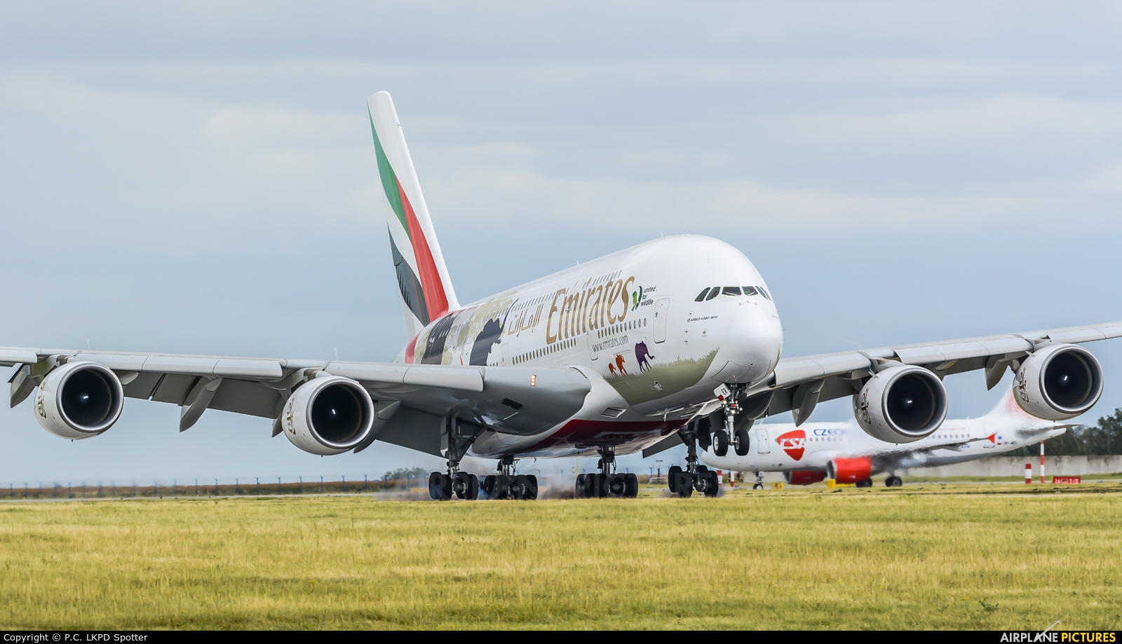 Emirates Airlines A6-EER aircraft at Prague - Václav Havel