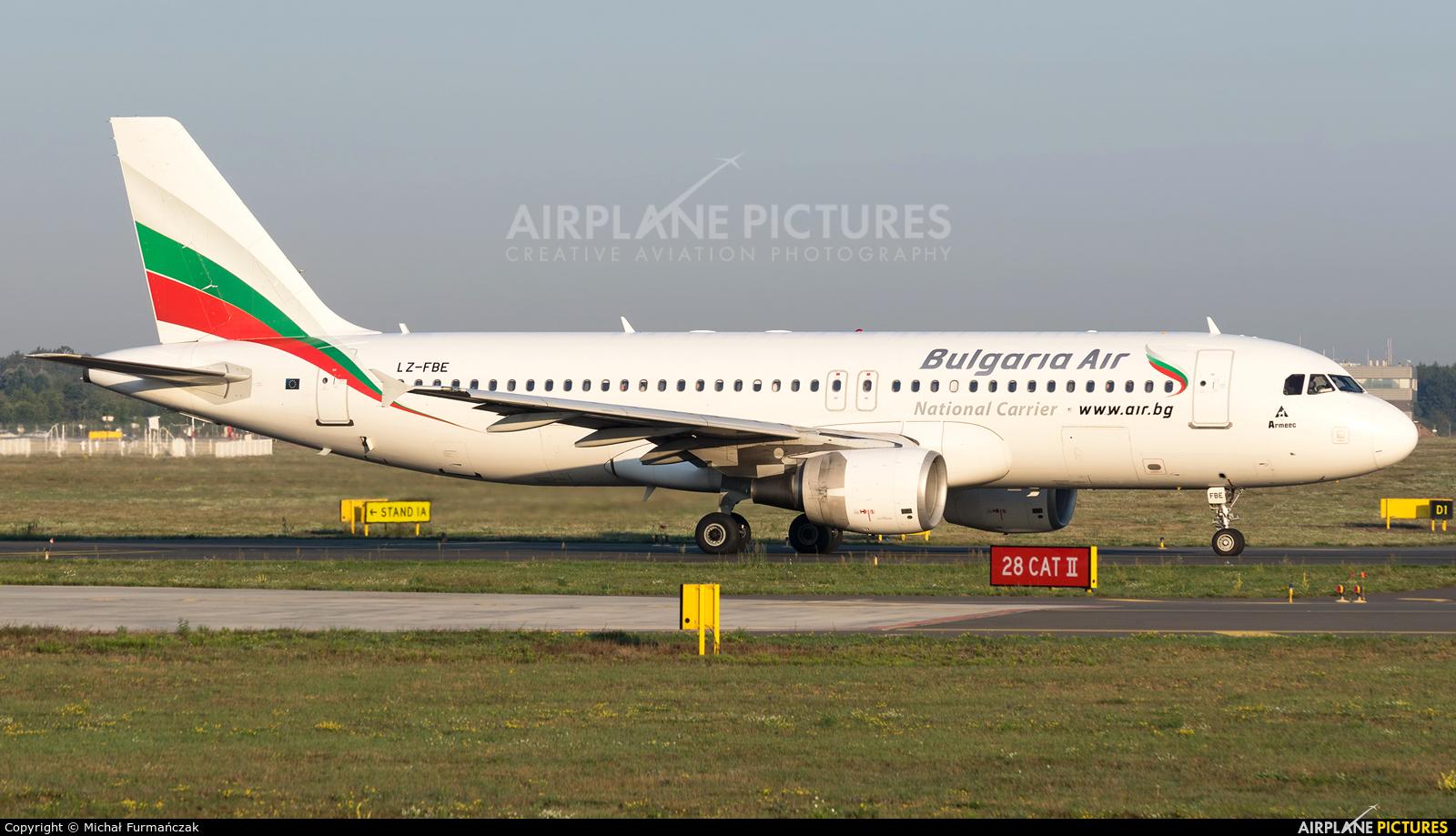 Bulgaria Air LZ-FBE aircraft at Poznań - Ławica
