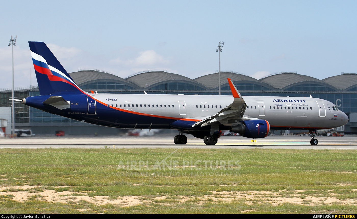 Aeroflot VP-BAF aircraft at Alicante - El Altet