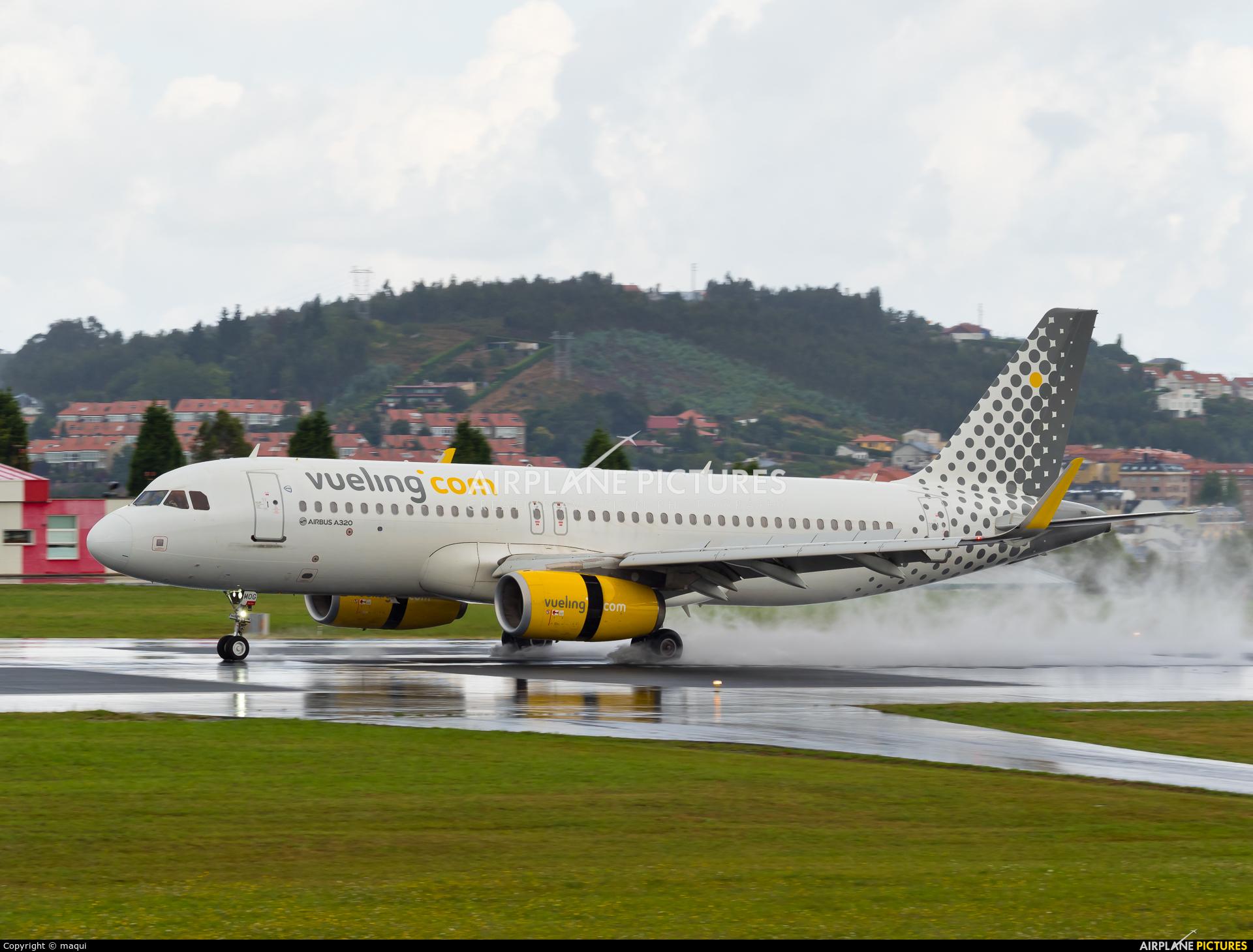 Vueling Airlines EC-MOG aircraft at La Coruña