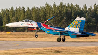 "#3 Russia - Air Force ""Russian Knights"" Sukhoi Su-27P 10 taken by Sandor Vamosi"