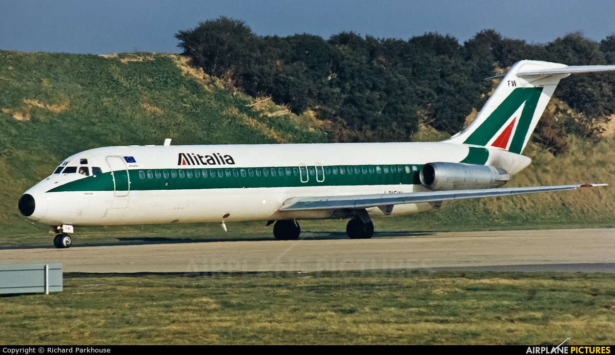 Alitalia I-RIFW aircraft at London - Gatwick