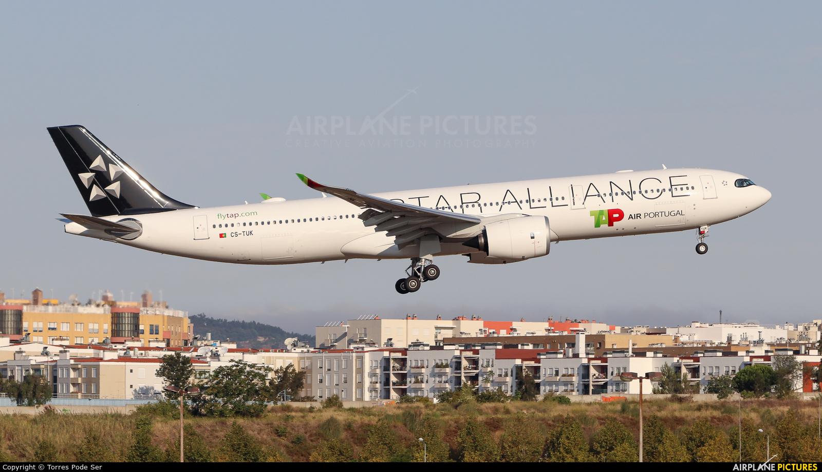 TAP Portugal CS-TUK aircraft at Lisbon