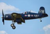 NX43RW - Private Vought F4U Corsair aircraft