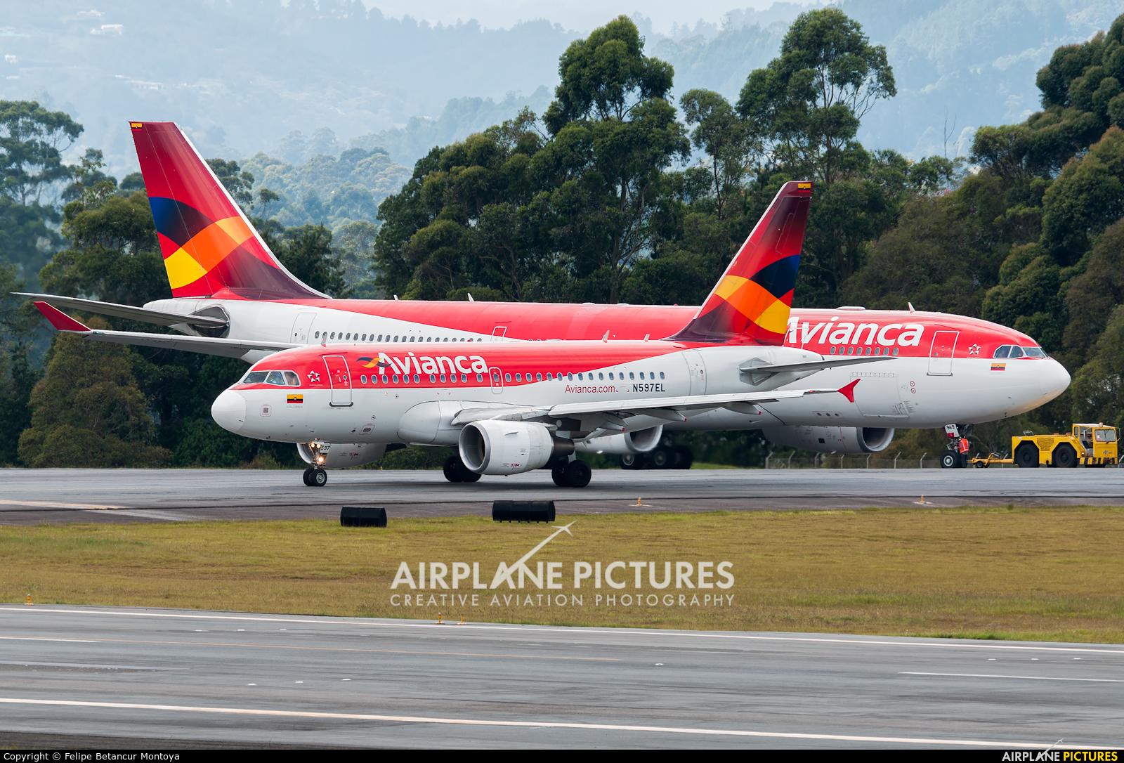 Avianca N597EL aircraft at Medellin - Jose Maria Cordova Intl