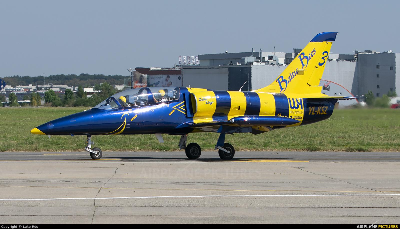 Baltic Bees Jet Team YL-KSZ aircraft at Bucharest - Aurel Vlaicu Intl