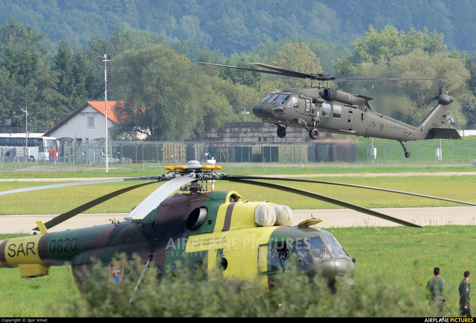 Slovakia -  Air Force 7448 aircraft at Sliač