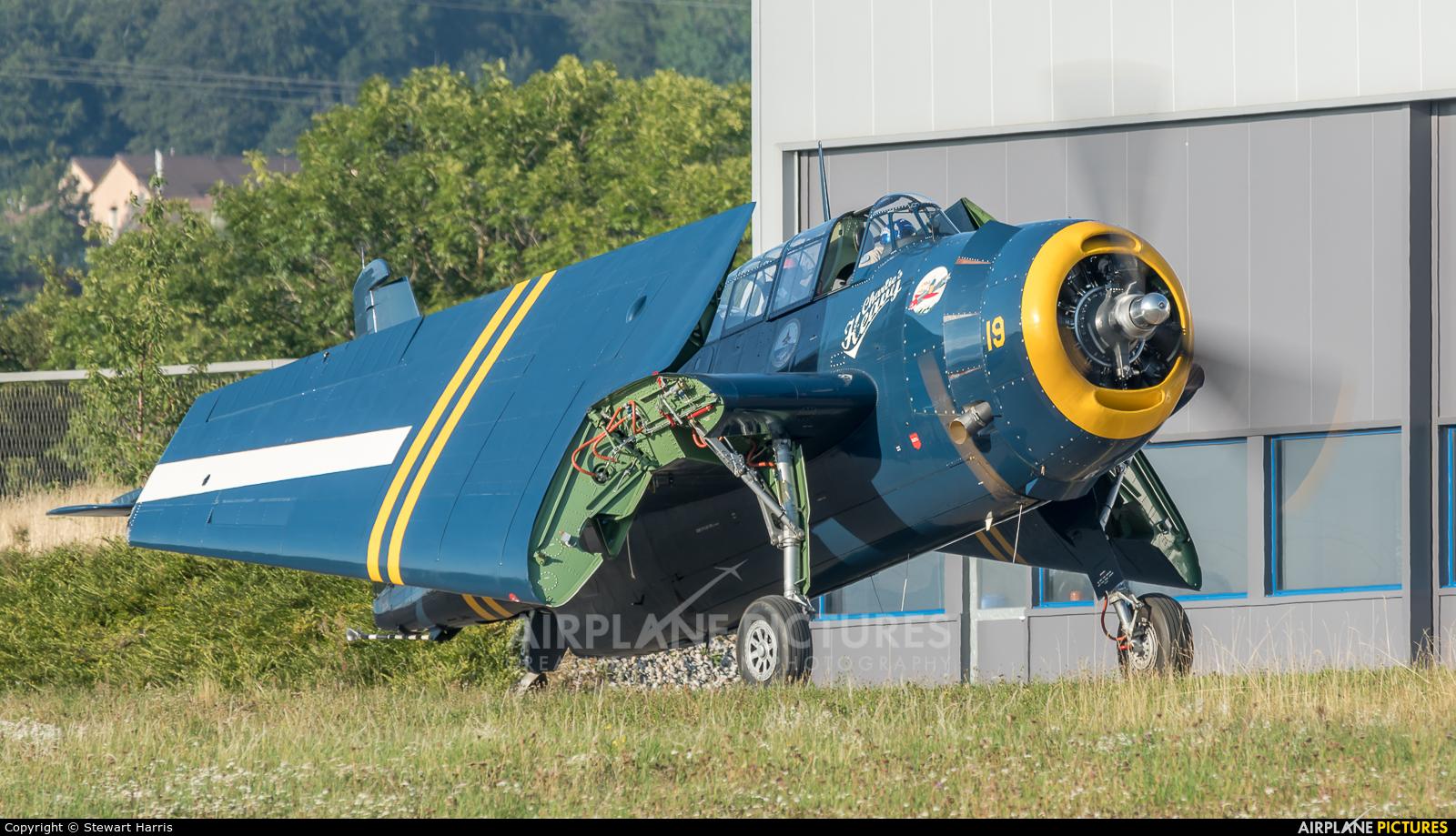 Avenger Charlie's Heavies Association HB-RDG aircraft at Lausanne - La Blécherette