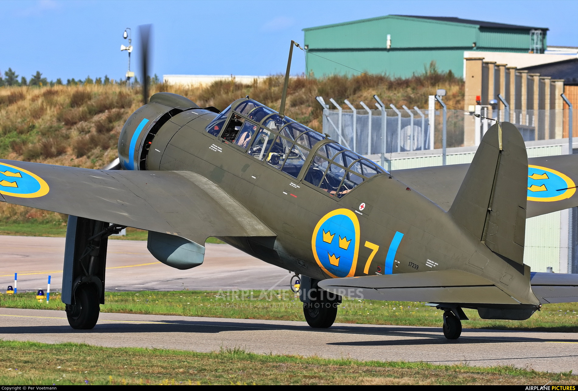 Swedish Air Force Historic Flight SE-BYH aircraft at Ronneby