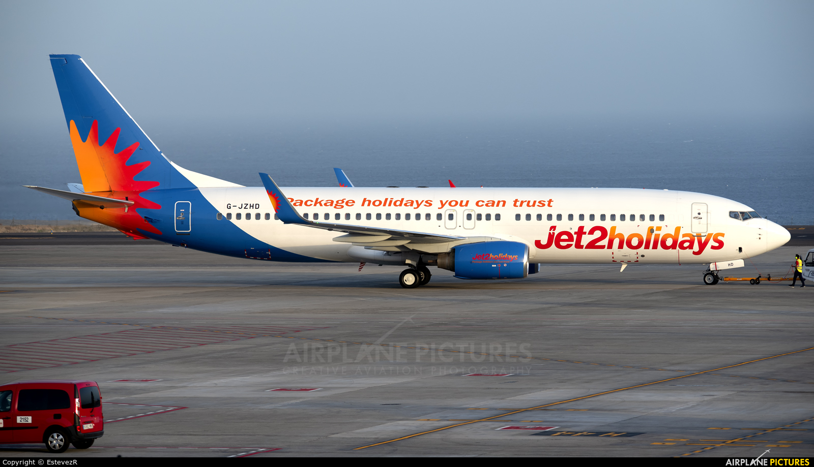 Jet2 G-JZHD aircraft at Tenerife Sur - Reina Sofia