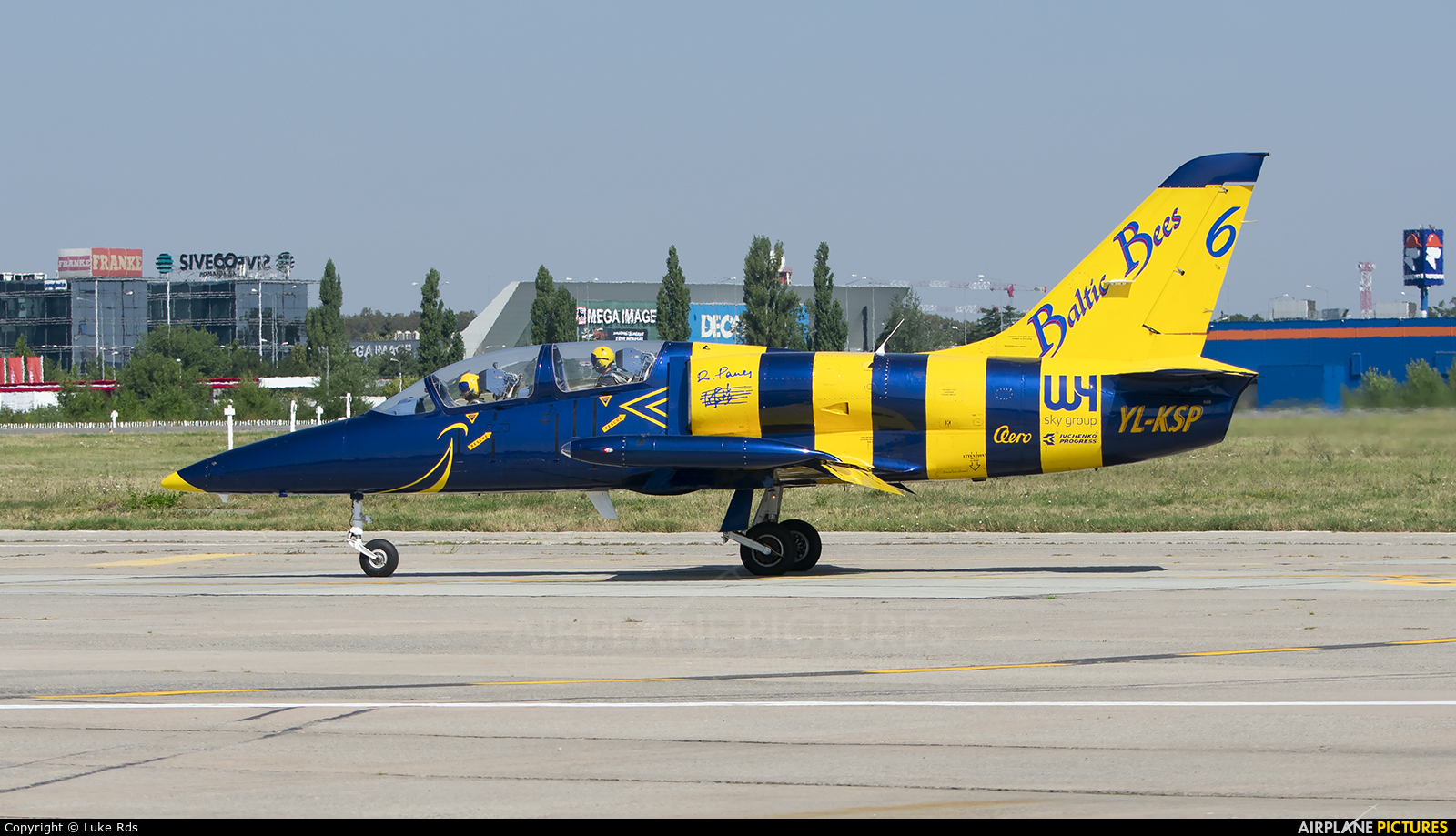 Baltic Bees Jet Team YL-KSP aircraft at Bucharest - Aurel Vlaicu Intl