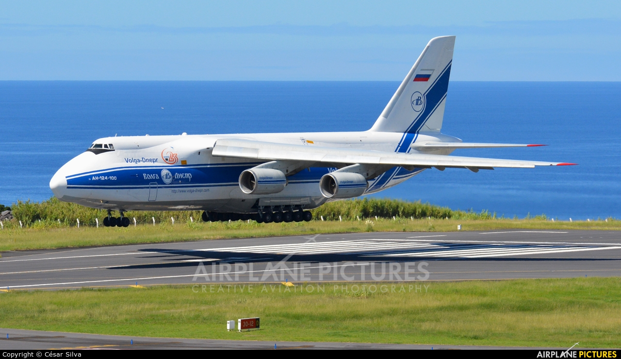 Volga-Dnepr RA-82077 aircraft at Azores - Ponta Delgada