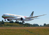 Gulf Air Boeing 787 painted in special 70th anniversary retro colours title=