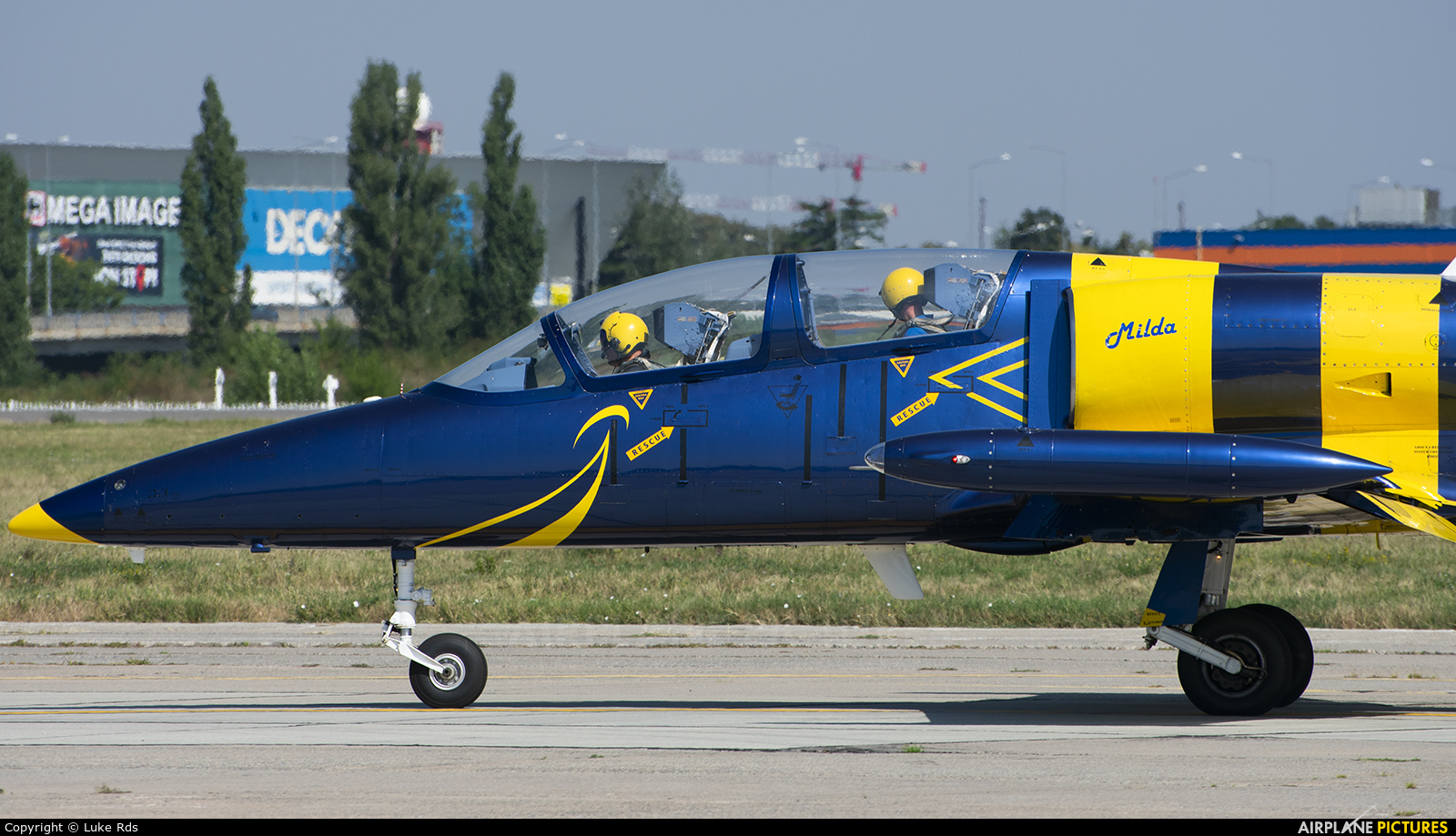 Baltic Bees Jet Team YL-KSM aircraft at Bucharest - Aurel Vlaicu Intl