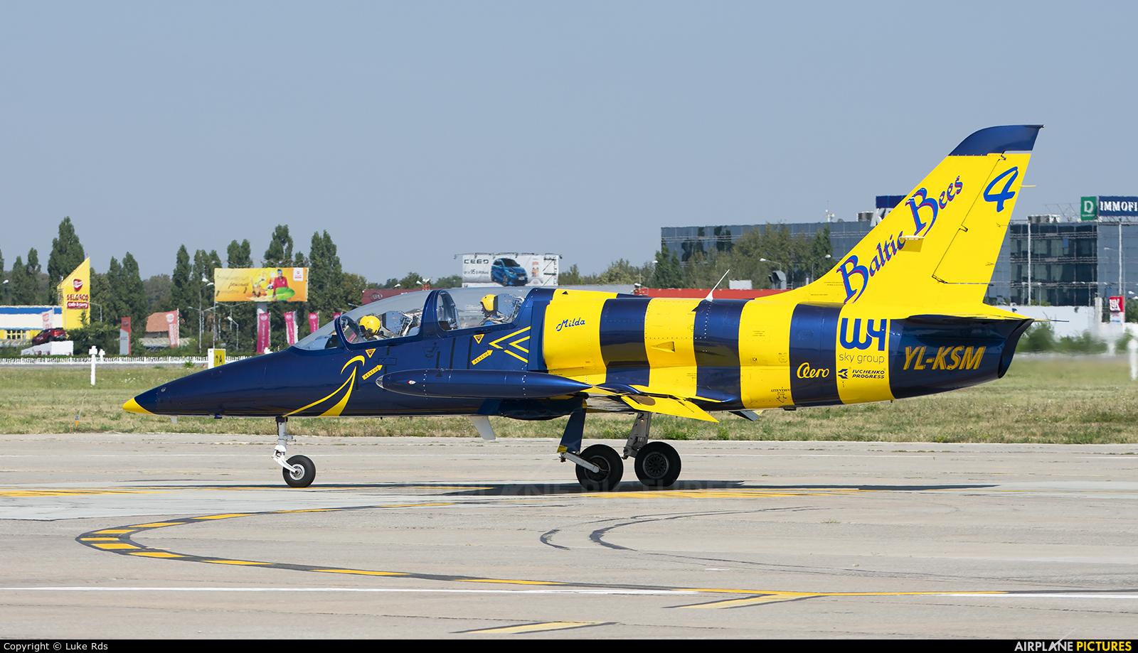Baltic Bees Jet Team YL-KSM aircraft at Bucharest - Aurel Vlaicu Intl