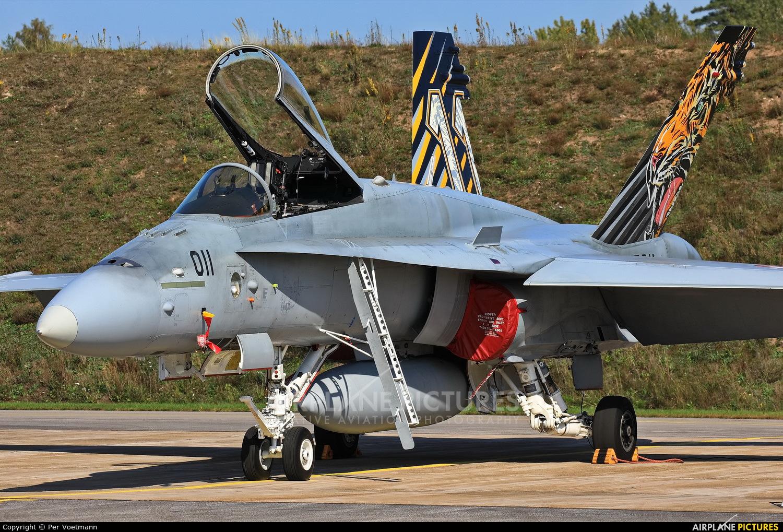 Switzerland - Air Force J-5011 aircraft at Ronneby