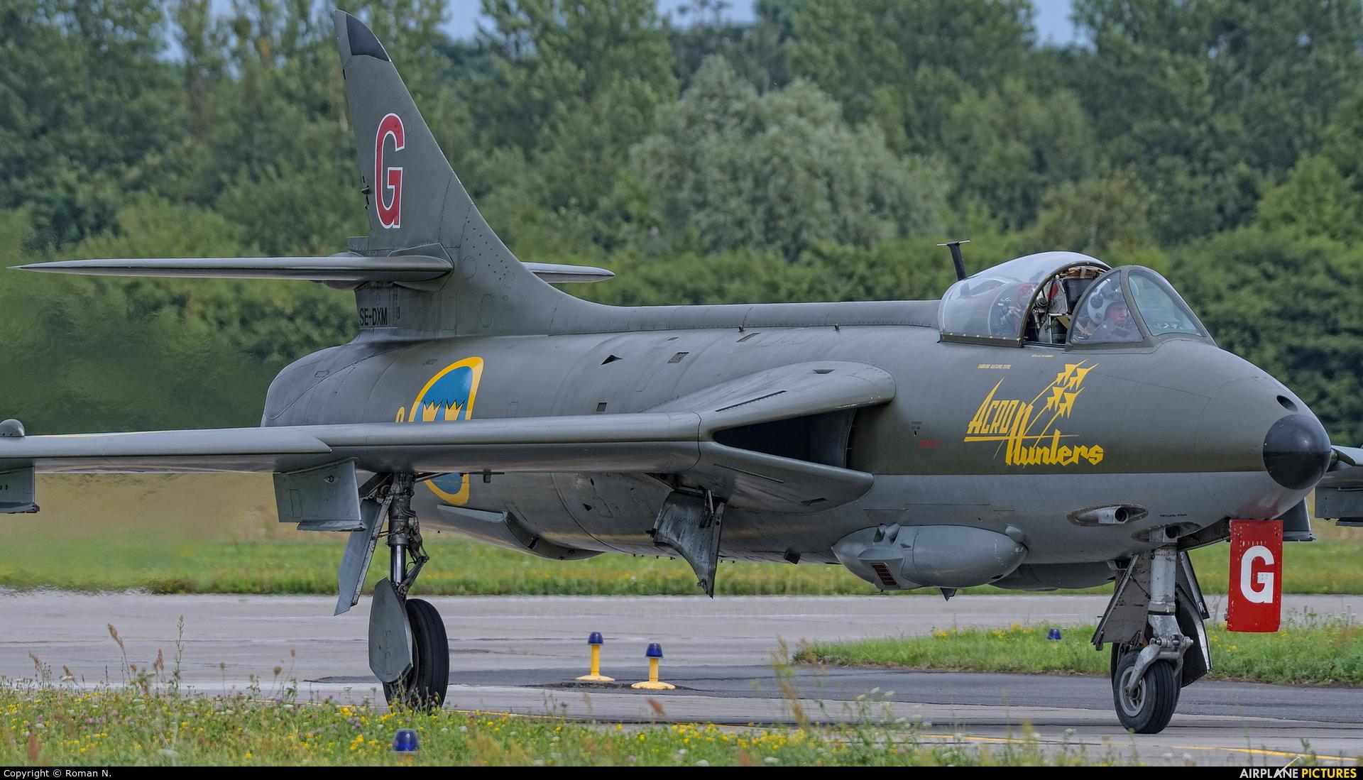 Swedish Air Force Historic Flight SE-DXM aircraft at Gdynia- Babie Doły (Oksywie)
