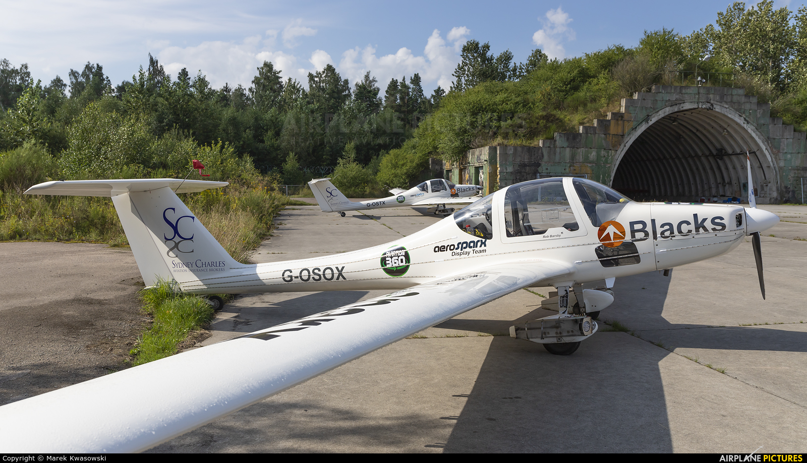 Aerosparx Display Team G-OSOX aircraft at Gdynia- Babie Doły (Oksywie)